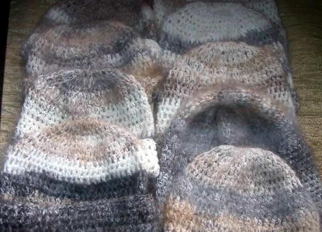 Angora rabbit wool beanies