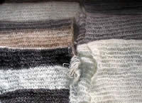 Angora Wool Scarves - Knitted