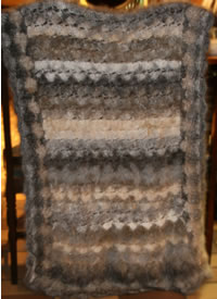 Angora Wool Shawl with all colours used in one item
