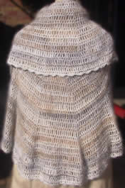 Angora Wool Shawl / Throw - Round with mixed colours